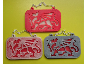 Red Dragon plaque wall hangar (based on Welsh Flag)