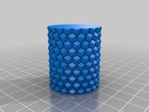 OpenScad parametric bees wax honeycomb roller