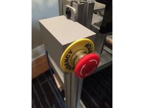 Emergency Stop Push Button Box 8020 mount