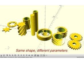 Parametric Sinusoidally Dented Cylinder