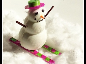 Skiing Snowman