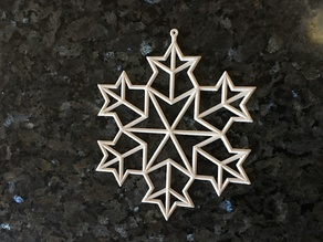 Koch Snowflake Ornament 1