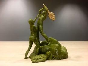 Z Nation - Doc vs Zombie Statue