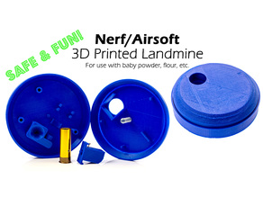 Nerf & Airsoft Landmine  (Safe & Fun with Flour or Baby Powder Explosions!)