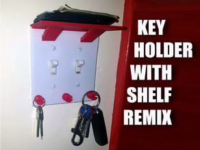 Double Light Switch Key Holder & Shelf with Supports