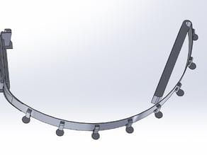 Replicator 2X x-axis strain relief