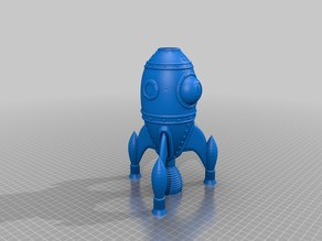 Rocket Ship reinforced legs and nozzle support
