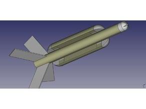 S-Hot Dog Flying Model Rocket