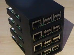 Customizable Raspberry Pi B+/Pi 2 rack
