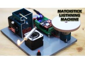 Match stick lightning machine
