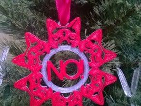 Grumpy Cat Snowflake Ornament
