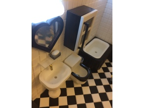 Miniature Tissue holder & soap  (bathroom)