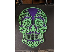 Sugar Skull with a Solid Base