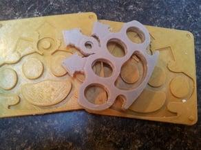 Rubber Knuckles - Mold for Multiblade brass nuckles