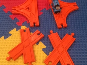 Thomas the Train track pieces (criss-cross, 3-way, tunnel)