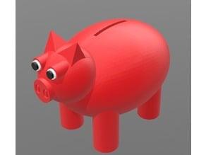 Piggy Bank w/ removable leg