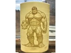 Hulk Lithophane