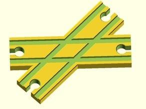Toy Wood Train Track / Spielzeug Holzeisenbahn Schienen / Kreuzung X / BRIO Thomas IKEA eBay kompatibel