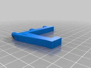 Shelf U Hook 6mm hole 38 peg length 105 width