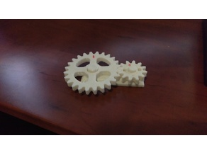 SIMPLE TO PRINT: Sample Gear Ratio 2:1 Example