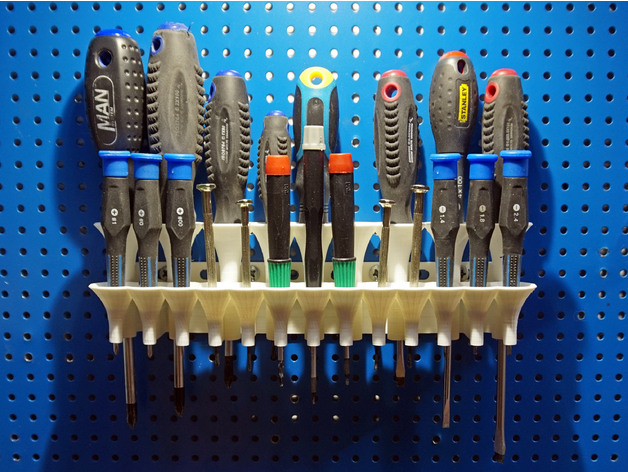 Screwdriver Holder Pegboard Or Wall Mounted By