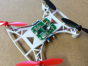 MicroQuad for 7mm Hubsan motors and propellers
