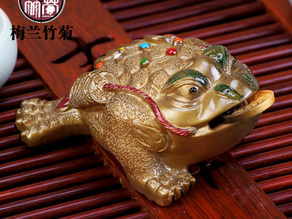 Lucky toad of Chinese keepsake