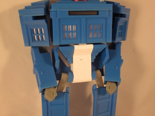 Matt Smith Head for TARDIS Transformer V2 by Ellindsey