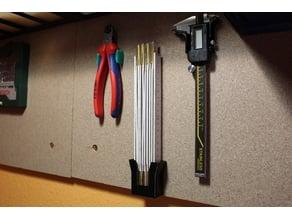 Metric folding rule wall mount
