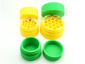 Assorted Jars with Screw-on Caps and Knurled Walls