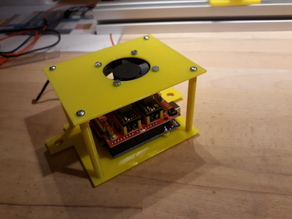 Arduino GRBL Shield Enclosure with fan
