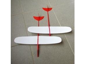 Mela. Plane model. Glider, airplane.