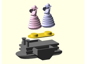 Mississippi Belle with Adapter (Game Piece)