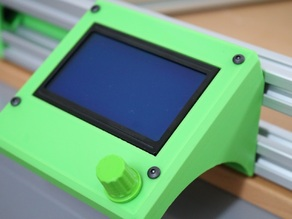 Graphics LCD case for Kossel 2020
