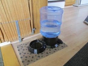 Low static volume dog waterer base.