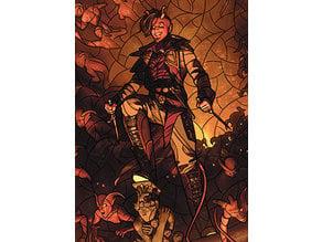Tybalt, Rakish Instigator - stained glass - litho