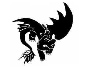 Night Fury Toothless stencil