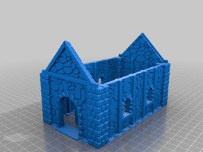 Medieval Cottage with mobile Door 28mm