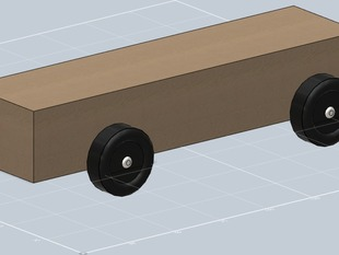 Pinewood Derby Block Model