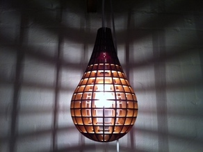 Teardrop Pendant Light - laser cut