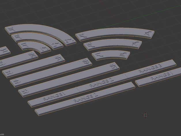 star wars x wing movement templates by helagak thingiverse