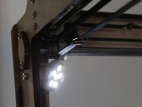 Ultimaker lighting with tiltable frame for G4-type LEDs