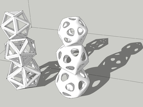 Polyhedral Snowman 3 - The Icosa-He-Droid