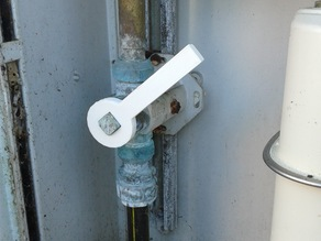 Handle for gas valve 15x15