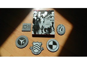 Persona High School Badges