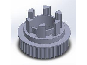 Longboard ABEC 11 Flywheels - Flywheel Clones - MBS All Terrain Wheels - CNC 35T Single Piece Pulley for 9mm, 12mm, 15mm Belts
