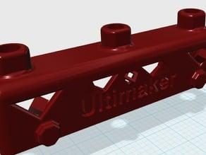 Ultimaker buildplatform back piece z adjustable