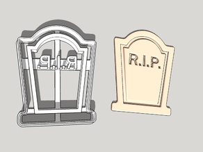 Tomb stone cookie cutter