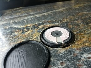 Minimal Qi Phone Charging Surface Grommet