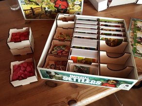 Lasercut box inlay for Imperial Settlers